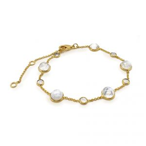 Sarah Alexander Shoreline Moonstone Cabuchon and Chain Bracelet