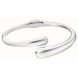 Calvin Klein Ellipse Silver Tone Open Bangle