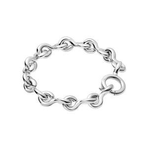 Calvin Klein Choppy Silver Tone Bracelet