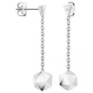 Calvin Klein Silver Tone Side Drop Earrings
