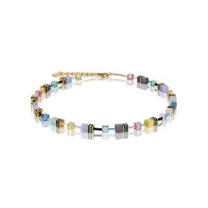 Coeur De Lion Crystals & Gemstones Multicolour Romance GEOCUBE Necklace 49051015666