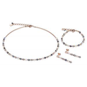 Coeur De Lion Stainless Steel Rose and Grey Stud Earrings 4948211200