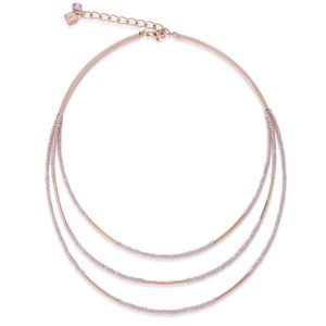Coeur De Lion Rose Gold and Glass Necklace