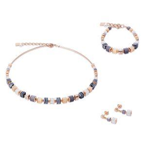 Coeur de Lion Rose Gold Geocube Earrings - 4963211523