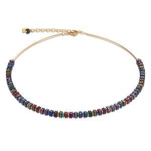Coeur De Lion Gold Multicolour Necklace  4974101500