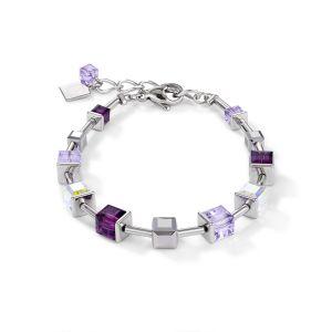 Coeur De Lion GeoCUBE Bracelet - Crystal Amethyst 4996300824