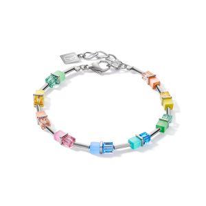 Coeur De Lion GeoCUBE Bracelet - Silver and Pastel Couple 5020301522