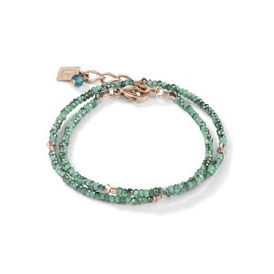 Coeur De Lion Crystal Rose and Petrol Wrap-around Bracelet 5033300624
