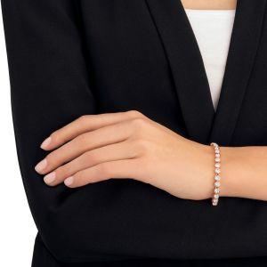 Swarovski tennis bracelet, white, rose gold plating 5039938