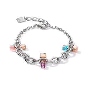 Coeur De Lion Chunky Chain Bracelet - Multicolour Art Nouveau 5063301578