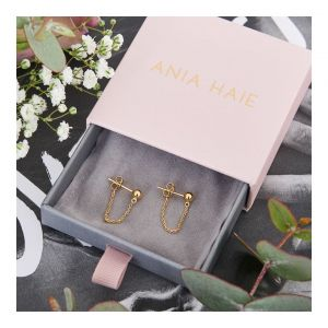 Ania Haie Modern Chain Stud Earrings - Gold E002-06G