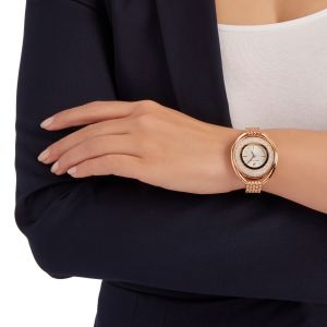 Swarovski Crystalline Oval Metal Strap Watch, Rose Gold 5200341