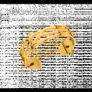 Les Georgettes Ruban 14mm Gold Finish Bangle