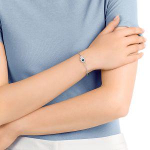 Swarovski Remix Collection Hamsa Hand Symbol, Strand Blue, Mixed plating