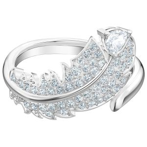 Swarovski Nice Motif Ring Simple, White, Rhodium Plating 5515029, 5482913, 5515030