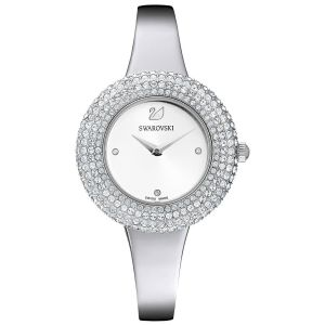Swarovski Crystal Rose Watch, White, Rhodium Plating