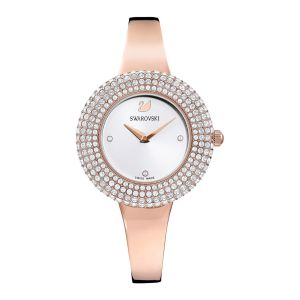 Swarovski Crystal Rose Watch, White, Rose Gold Plating
