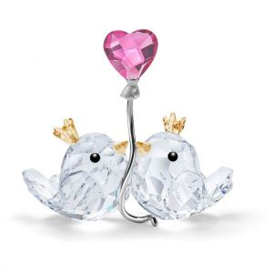 Swarovski Crystal Love Birds - Pink Heart