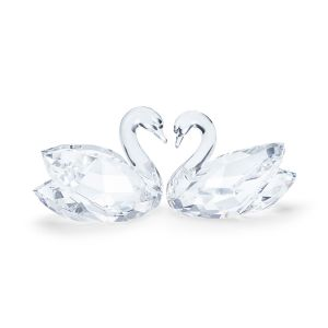 Swarovski Crystal Swan Couple