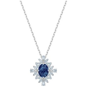 Swarovski Palace Necklace - Blue - Rhodium Plated