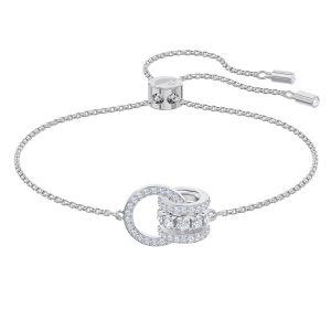 Swarovski Further Bracelet, White, Rhodium Plating