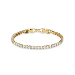 Swarovski Tennis Deluxe Bracelet - White with Gold Plating 5511544