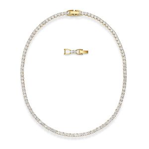 Swarovski Tennis Deluxe Necklace - Gold-tone Plating