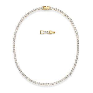 Swarovski Tennis Deluxe Necklace - Gold-tone Plating - 5511545