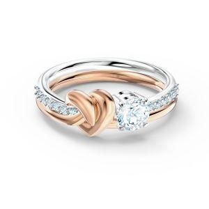 Swarovski Lifelong Heart Ring - Rose Gold Plated