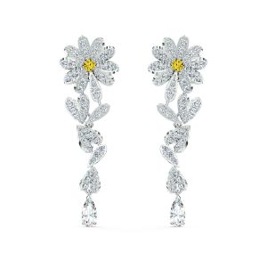 Swarovski Eternal Flower Pierced Earrings - Rhodium Plating