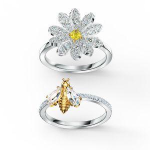 Swarovski Eternal Flower Ring Set - Mixed Metal Finish - 5512661, 5534935, 5534949