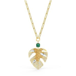Swarovski Tropical Leaf Pendant - Gold-tone Plating