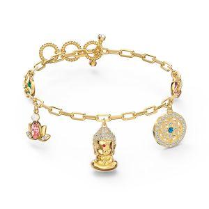 Swarovski Symbolic Buddha Bracelet - Gold-tone Plating