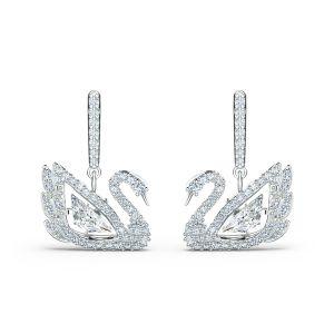 Swarovski Dancing Swan Pierced Earrings