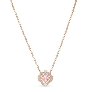 Swarovski Sparkling Dance Clover Necklace - Rose Gold Plating