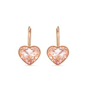 Swarovski Heart Bella Earrings - Rose Gold Plating - 5515192
