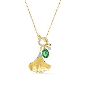 Swarovski Stunning Ginkgo Necklace - Gold-tone Plating