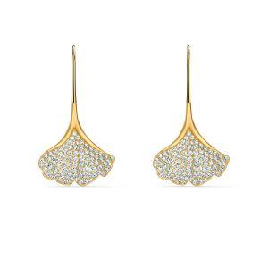 Swarovski Stunning Ginkgo Pierced Earrings - Gold-tone Plating