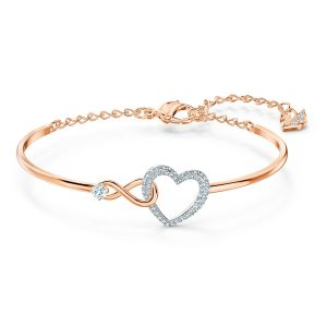 Swarovski Infinity Heart Bangle 5518869