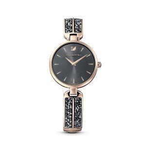 Swarovski Dream Rock Watch - Metal Bracelet - Grey - Champagne-Gold Tone PVD