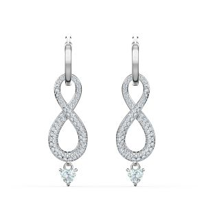 Swarovski Swan Infinity Pierced Earrings - 5520578
