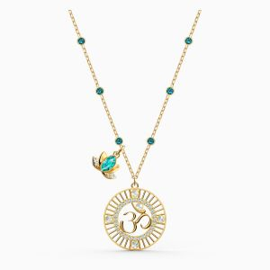 Swarovski Symbolic Om Necklace - Gold-Tone Plating