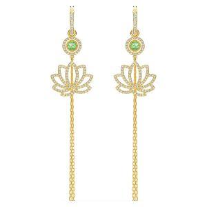 Swarovski Symbolic Lotus Earrings - Gold-tone Plating