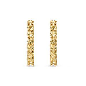 Swarovski Vittore Hoop Pierceed Earrings - Gold-Tone Plated
