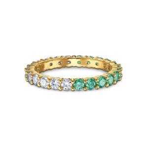 Swarovski Vittore Ring - Green and White - Gold-tone Plating