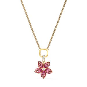 Swarovski Tropical Flower Pendant Necklace - Rhodium Plating - 5519248