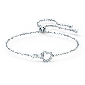 Swarovski Infinity Heart Bracelet - Rhodium Plated - 5524421