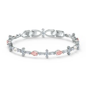 Swarovski Perfection Bracelet - Pink - Rhodium Plating - 5524544
