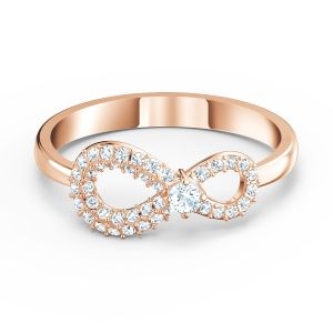 Swarovski Infinity Ring - Rose Gold Plated 5535400, 5518873, 5535412