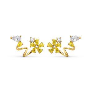 Swarovski Botanical Wrap Pierced Earrings